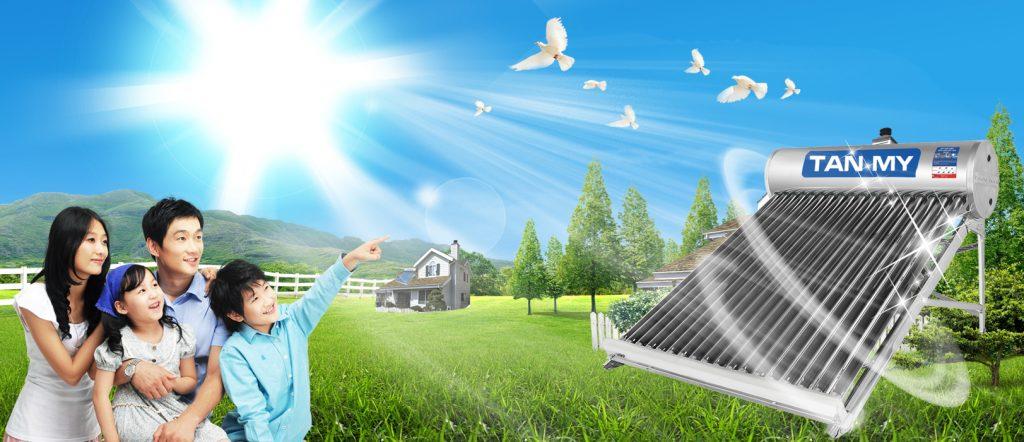 Sản phẩm cao cấp mới. Máy nước nóng năng lượng mặt trời Tân Mỹ